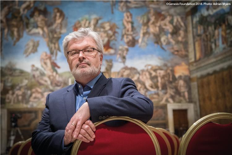 Sir James MacMillan in the Sistine Chapel
